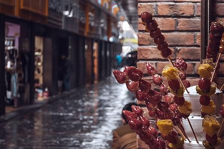 街巷口的冰糖葫芦图片