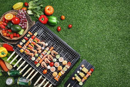 野餐烧烤图片