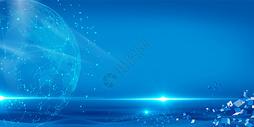 蓝色科技背景图片图片