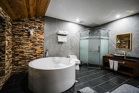 酒店卫生间图片
