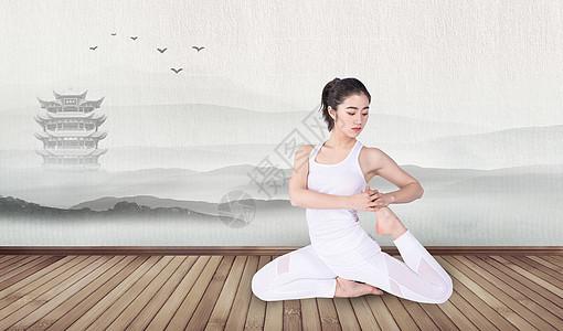 瑜伽养生美女图片