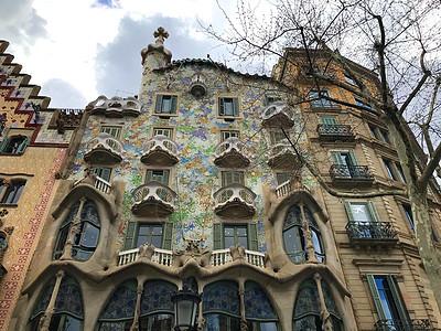 西班牙巴塞罗那城市风光巴特罗之图片