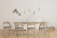 现代简约餐桌餐椅图片