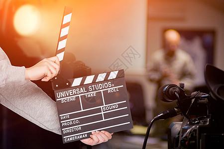 拍摄电影场景图片