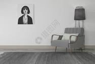 单椅挂画组合图片