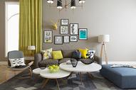 现代客厅场景设计图片