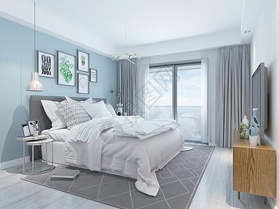 北欧卧室空间设计图片