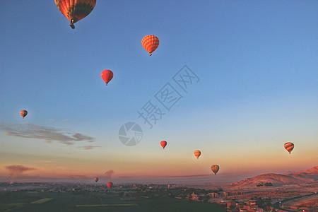 埃及卢克索热气球图片