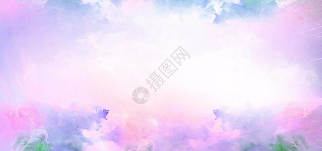 烟雾云彩绚丽艺术背景图片