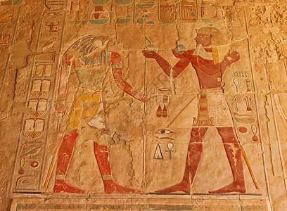 埃及卢克索哈齐普苏特女王神庙壁画图片