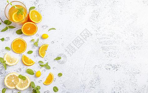 夏日果饮素材图片