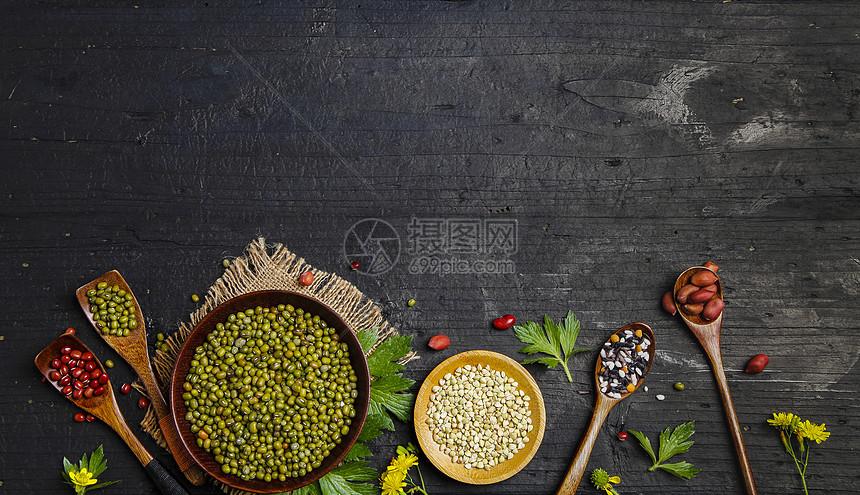 小暑之五谷杂粮素材图片
