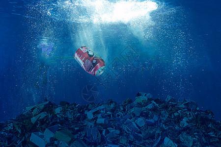海底垃圾图片