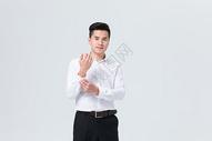 商务男性整理西装衬衣500872050图片