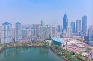 俯瞰武汉汉口城市高楼图片