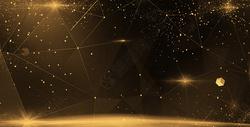 金色空间感线条科技背景图片