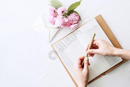 春日樱花俯视手部动作图片