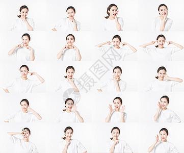 青年女性表情包图片