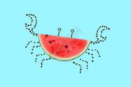 创意螃蟹西瓜图片