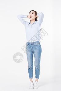 青年女性期待未来图片