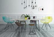 家居餐厅坐凳效果图图片