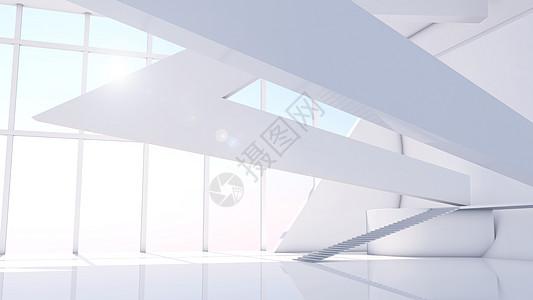 大气建筑空间背景图片