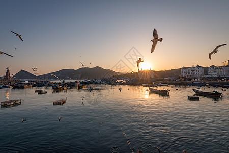 渔人码头日落图片