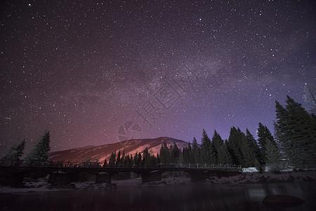 新疆喀纳斯银河图片