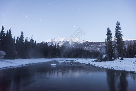 新疆喀纳斯冬季雪景图片