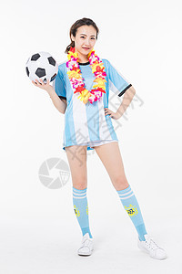 戴花环的足球宝贝图片
