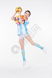 活力加油的足球宝贝图片