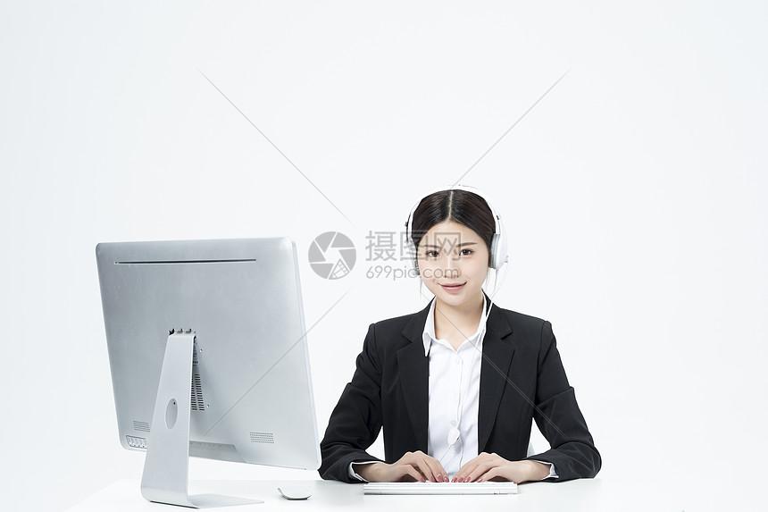 商务客服职业女性图片