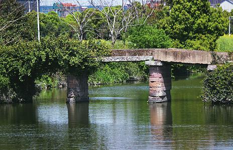 古村落石板桥图片