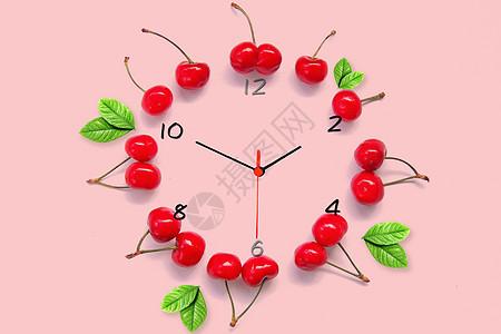 樱桃钟表图片