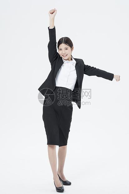 商务女性欢呼图片