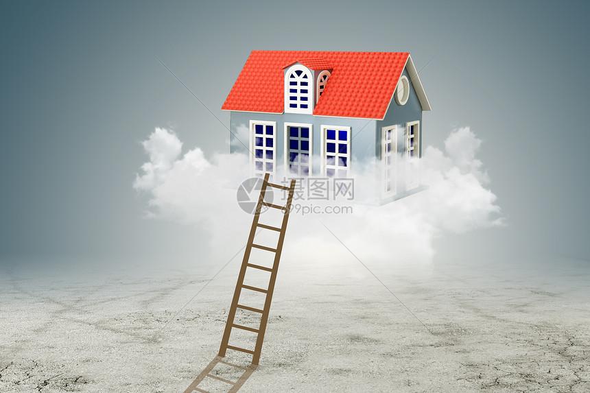 登梯上云层看房图片
