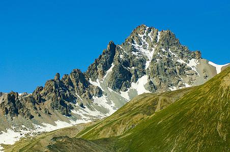 新疆天山山脉山峰大美风景图片