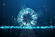 蓝色发光全球网络科技图片