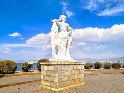大理洱海渔女雕像图片