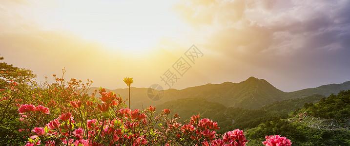 武汉云雾山黄昏美景图片