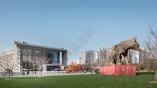 上海自然博物馆广场图片