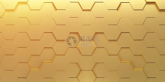 金色立体背景图片