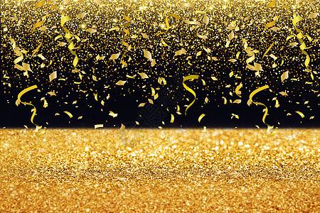 丝带鎏金背景图片