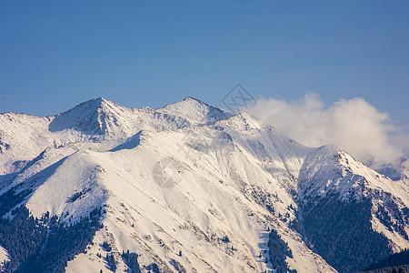 新疆天山雪峰图片