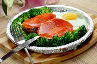 铁板浇汁煎鳕鱼图片