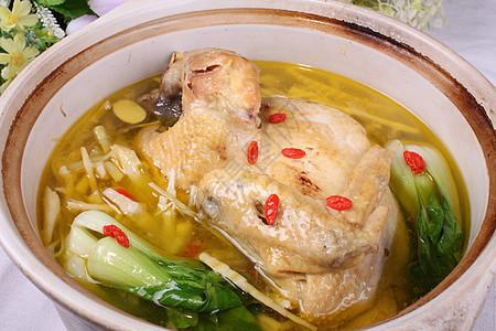 砂锅炖土鸡汤图片