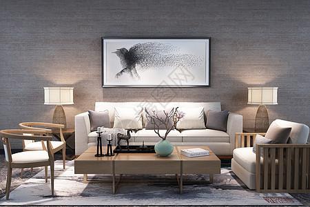 中式空间客厅场景设计图片