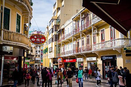 澳门商业街图片