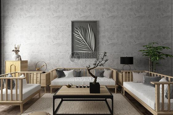 中式空间客厅场景图片