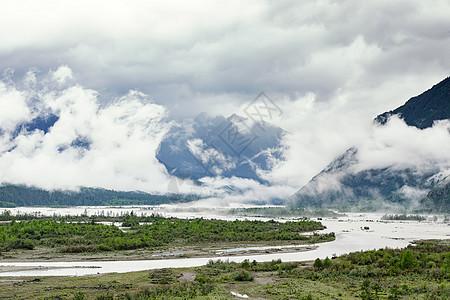 西藏林芝尼洋河风光图片